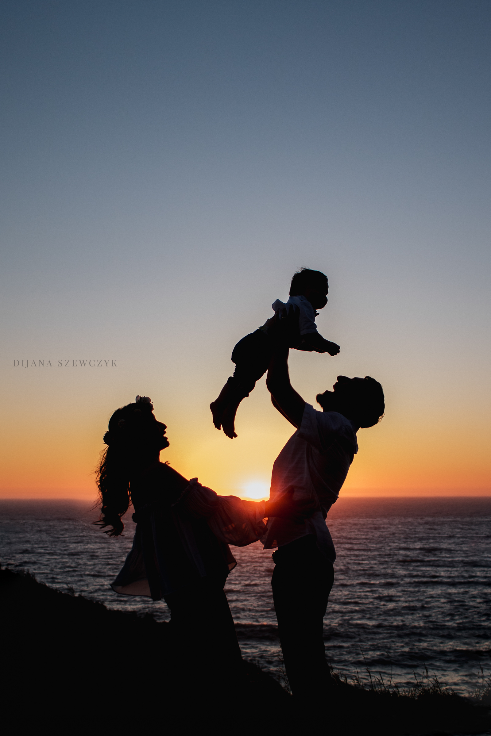 silhouette family baby oregon