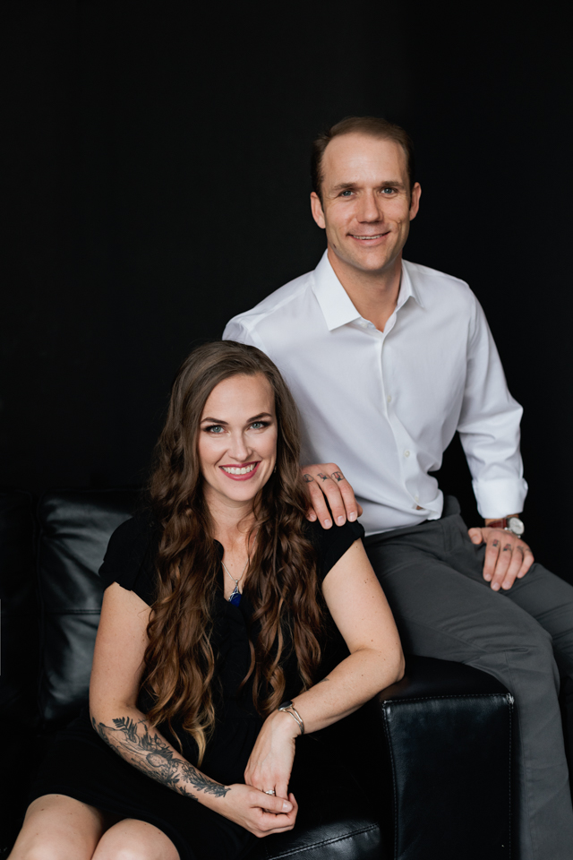 couple headshot posing for couple