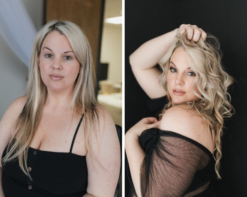 blonde curvy makeover