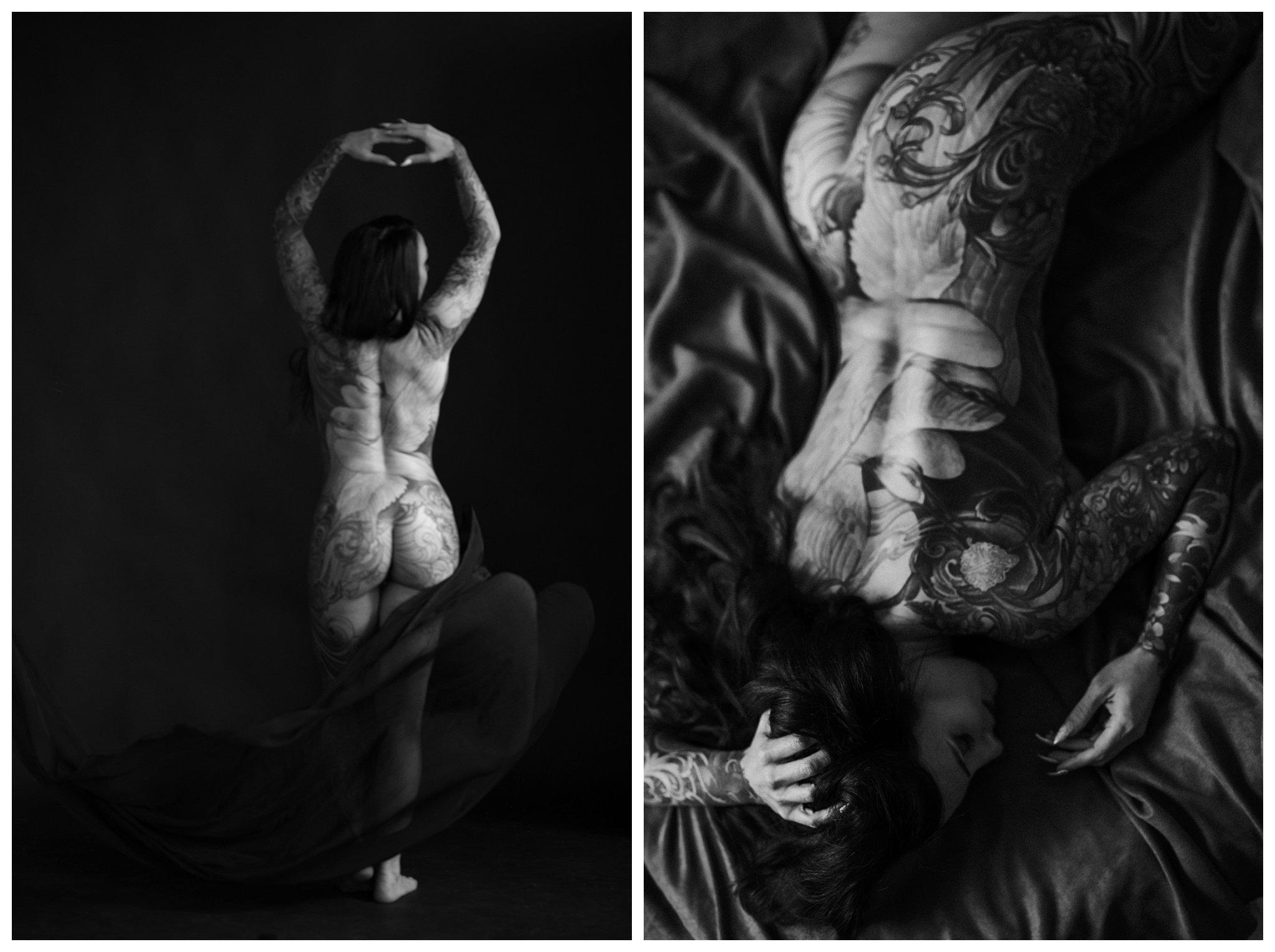 full body tattoos black and white portland oregon