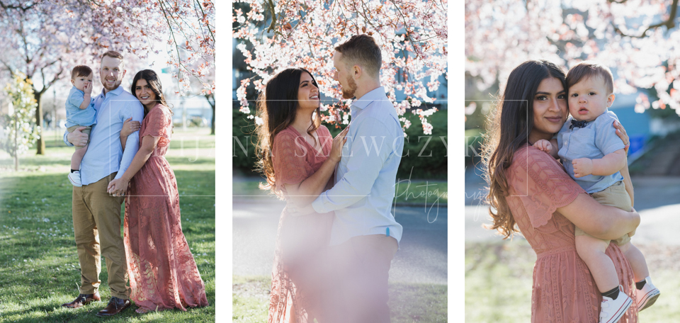 family photographer portland oregon cherry blossom