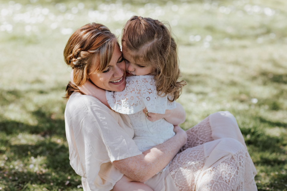 boho hippie mom and daughter photoshoot