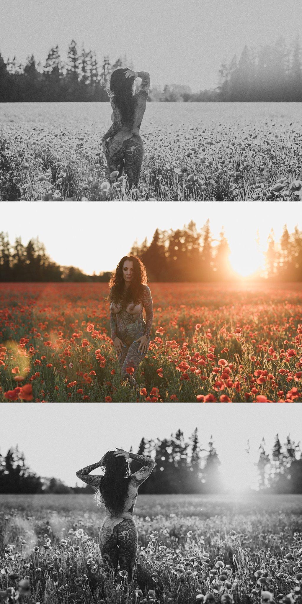 poppy field red flowers oregon boudoir