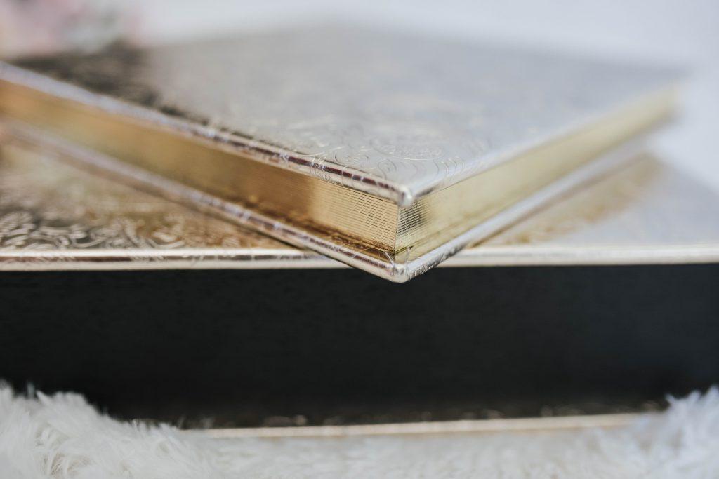 luxury gold album boudoir